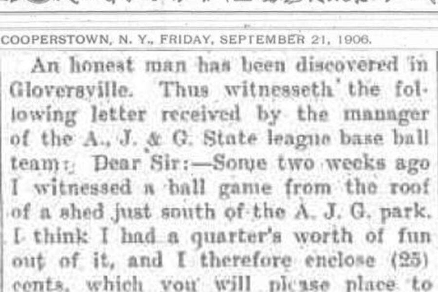 Baseball Thrives in Gloversville